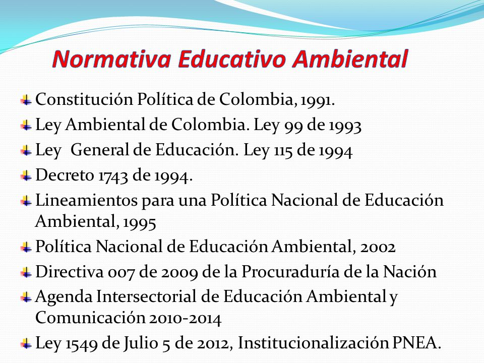 Normativa Educativo Ambiental