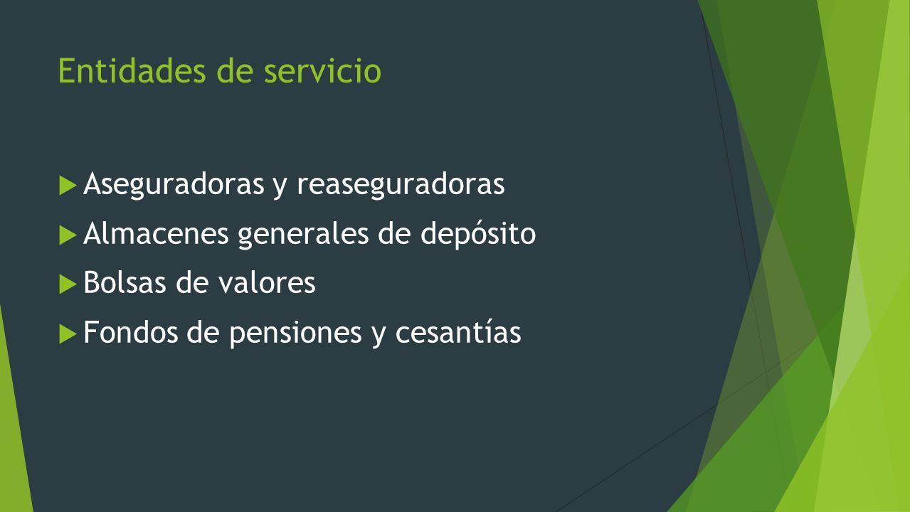 Entidades de servicio Aseguradoras y reaseguradoras