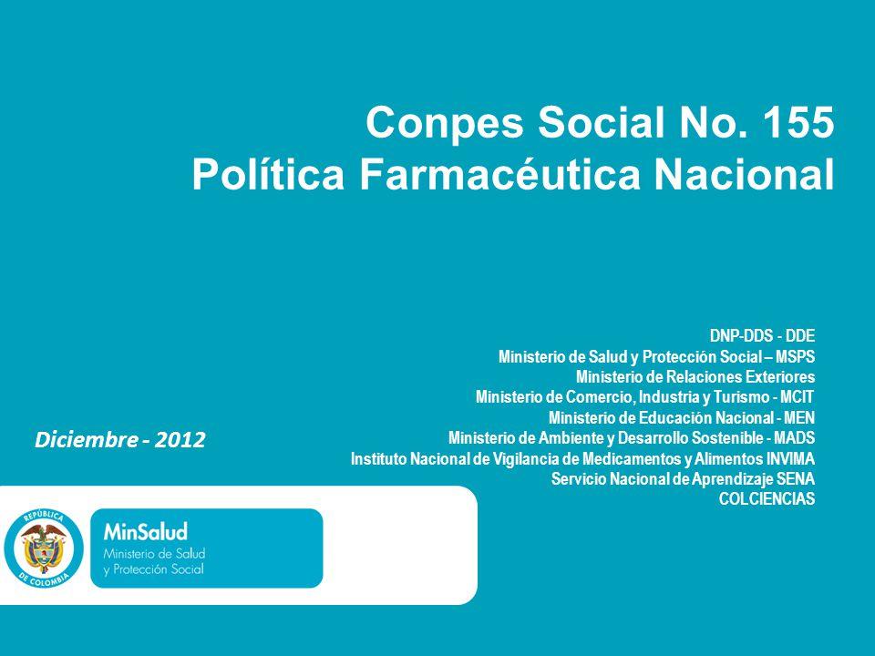 Conpes Social No. 155 Política Farmacéutica Nacional
