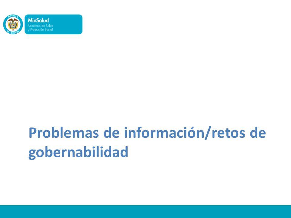Problemas de información/retos de gobernabilidad