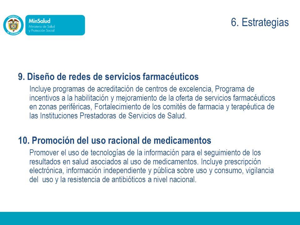 6. Estrategias 9. Diseño de redes de servicios farmacéuticos