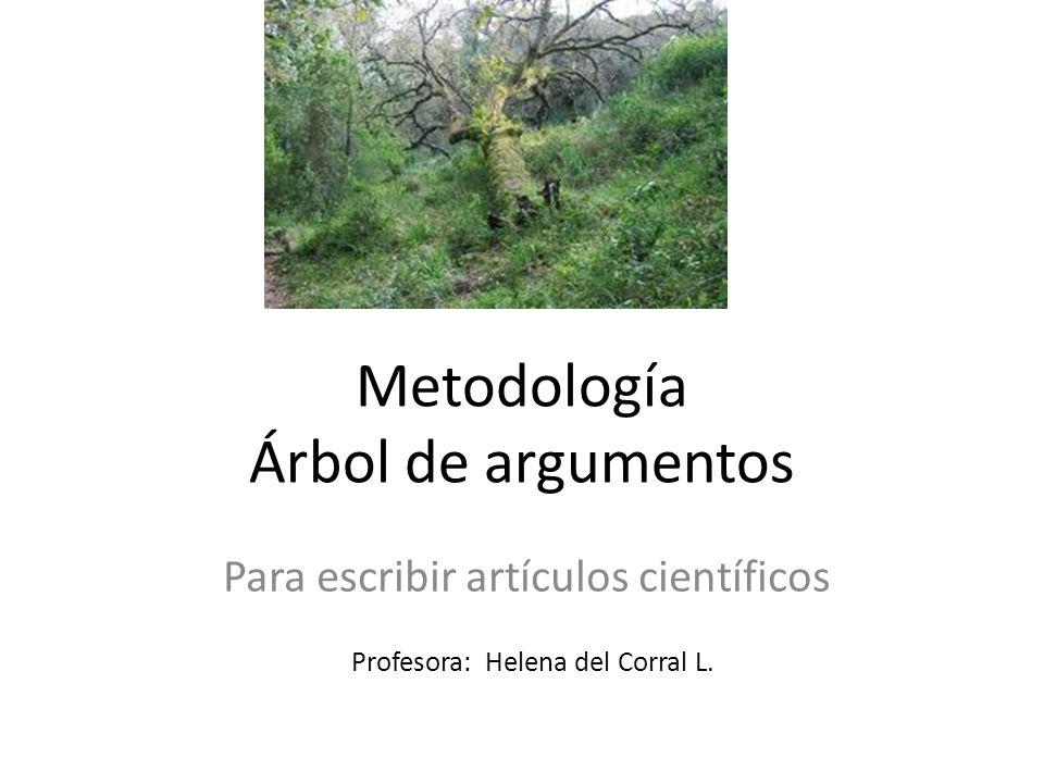 Metodología Árbol de argumentos