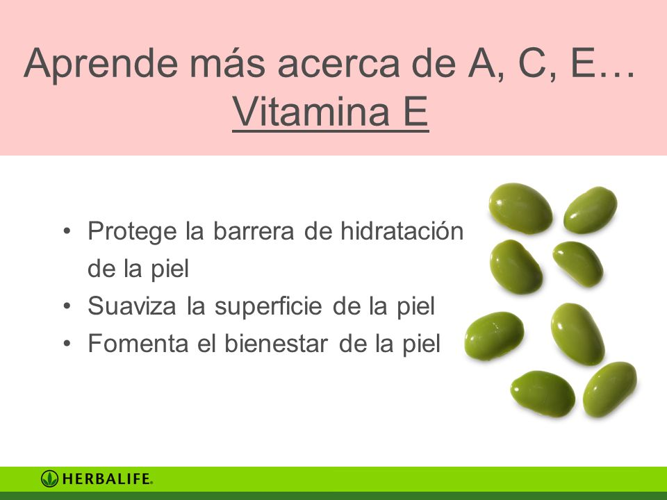 Aprende más acerca de A, C, E… Vitamina E