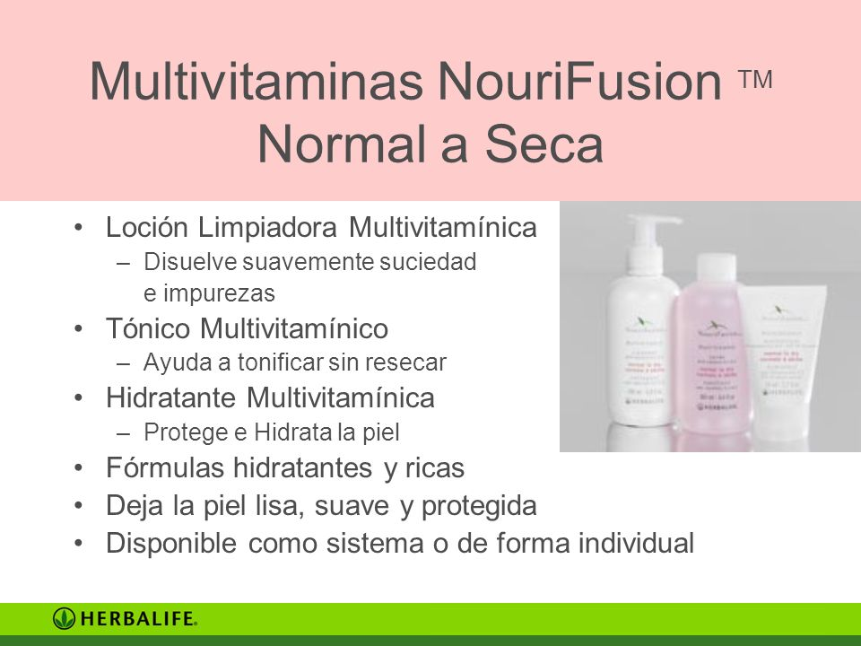 Multivitaminas NouriFusion TM Normal a Seca