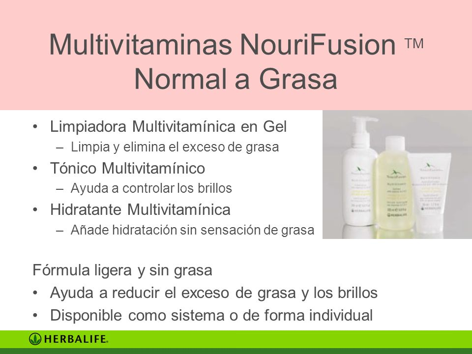 Multivitaminas NouriFusion TM Normal a Grasa