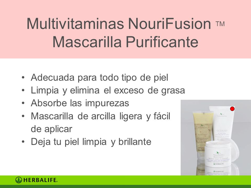 Multivitaminas NouriFusion TM Mascarilla Purificante