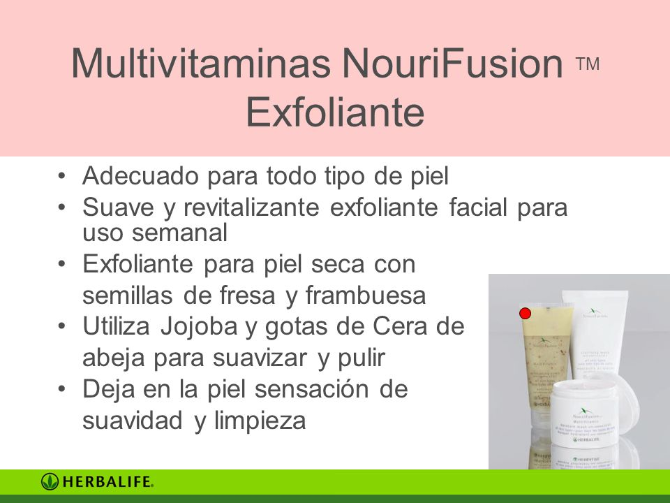 Multivitaminas NouriFusion TM Exfoliante