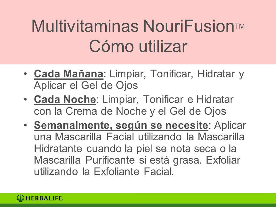 Multivitaminas NouriFusionTM Cómo utilizar