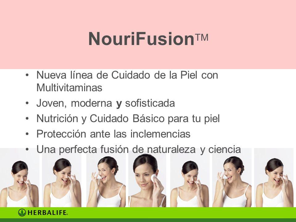 NouriFusionTM Nueva línea de Cuidado de la Piel con Multivitaminas