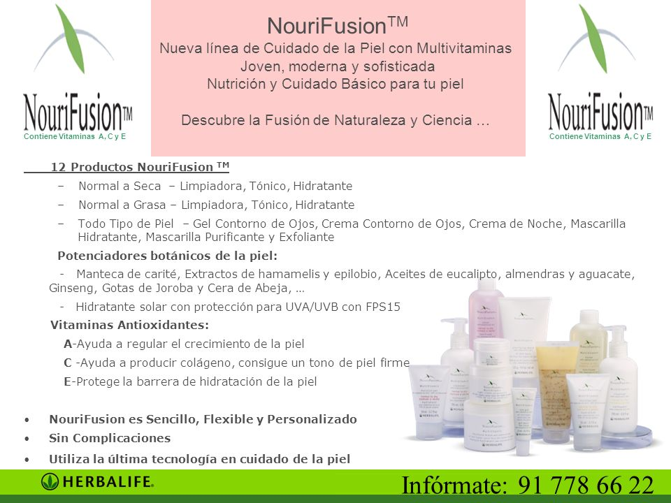 NouriFusionTM Nueva línea de Cuidado de la Piel con Multivitaminas Joven, moderna y sofisticada Nutrición y Cuidado Básico para tu piel Descubre la Fusión de Naturaleza y Ciencia …