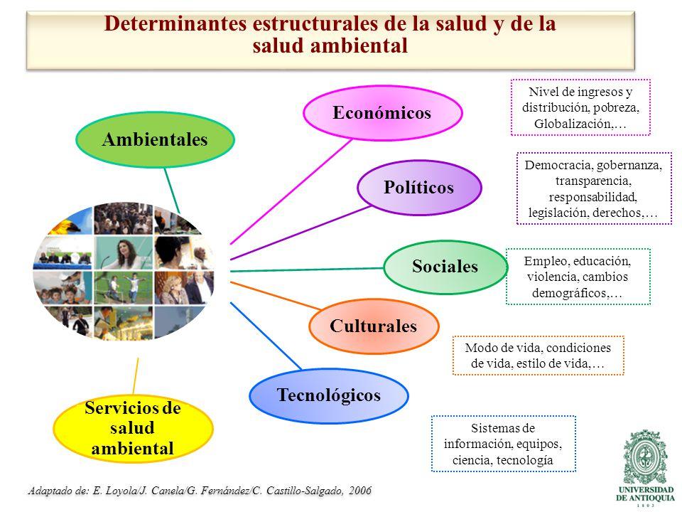 Determinantes estructurales de la salud y de la salud ambiental