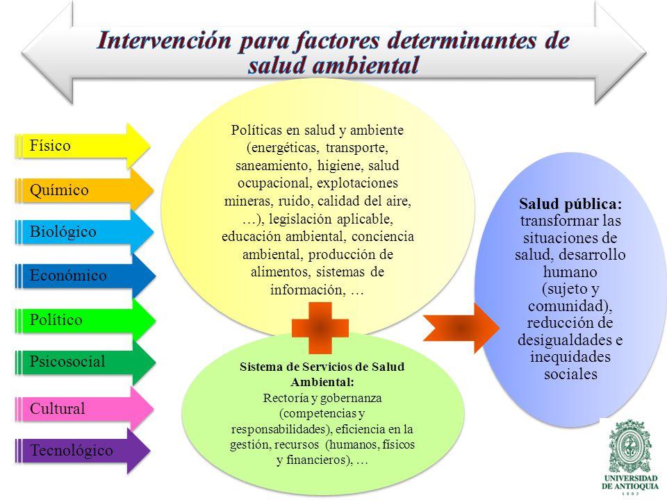Intervención para factores determinantes de salud ambiental