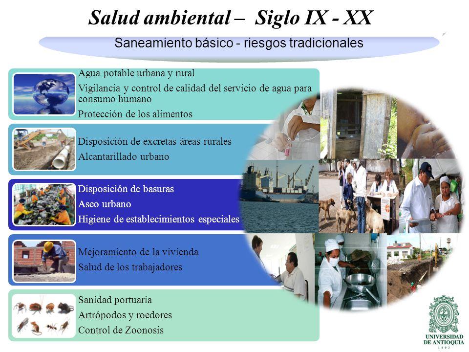 Salud ambiental – Siglo IX - XX