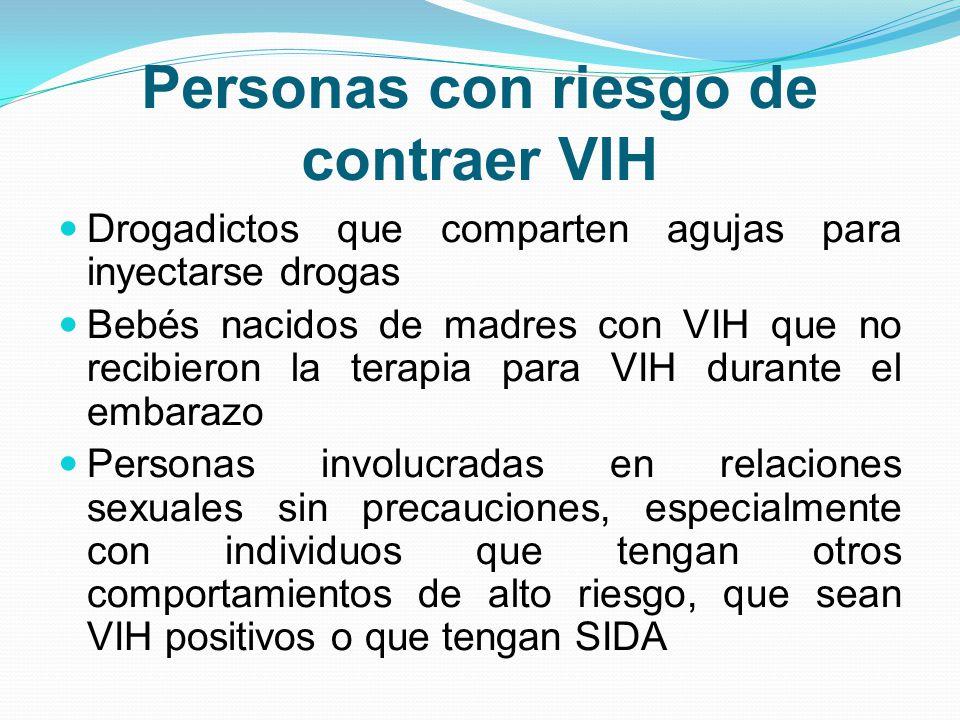 Personas con riesgo de contraer VIH
