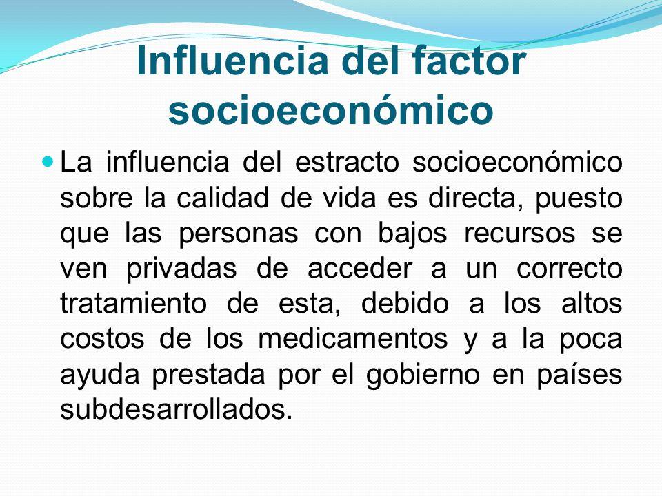 Influencia del factor socioeconómico