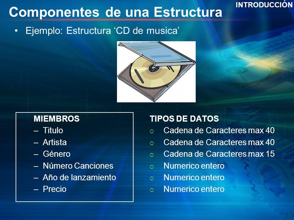 Componentes de una Estructura
