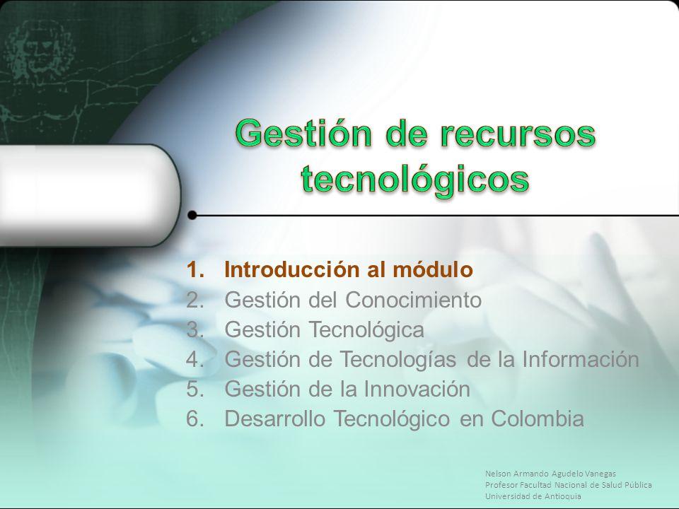 Gestión de recursos tecnológicos