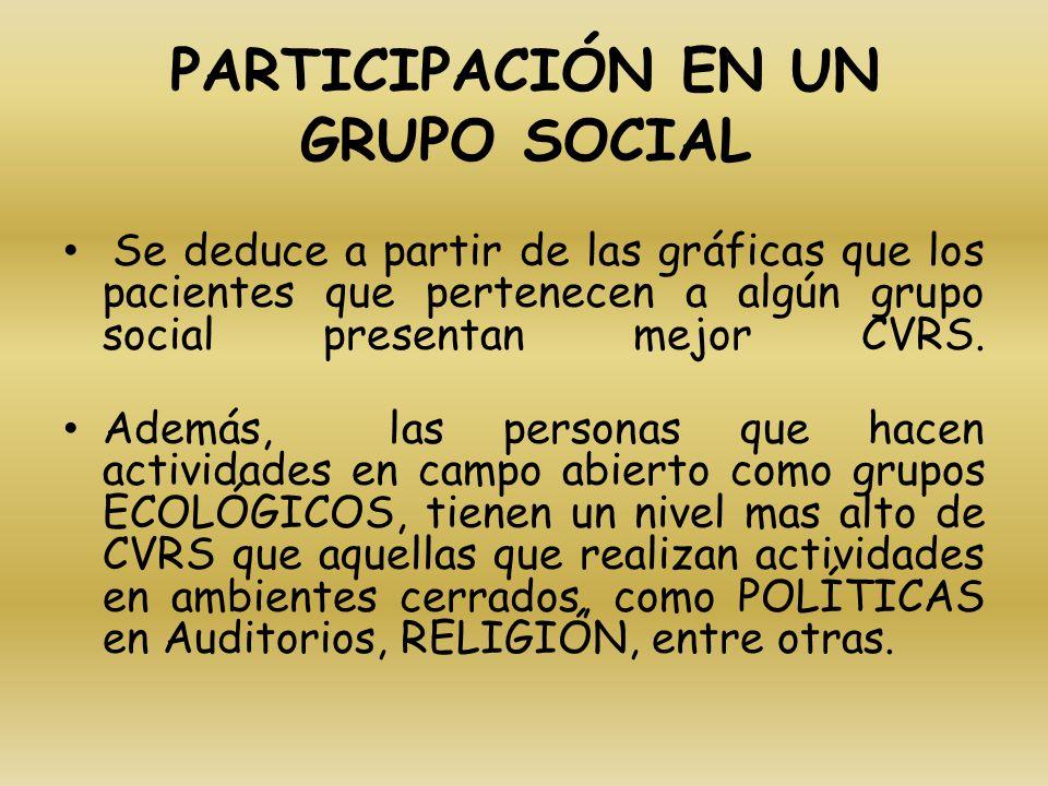 PARTICIPACIÓN EN UN GRUPO SOCIAL