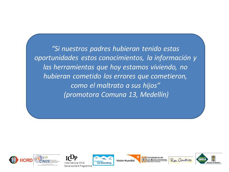 (promotora Comuna 13, Medellín)