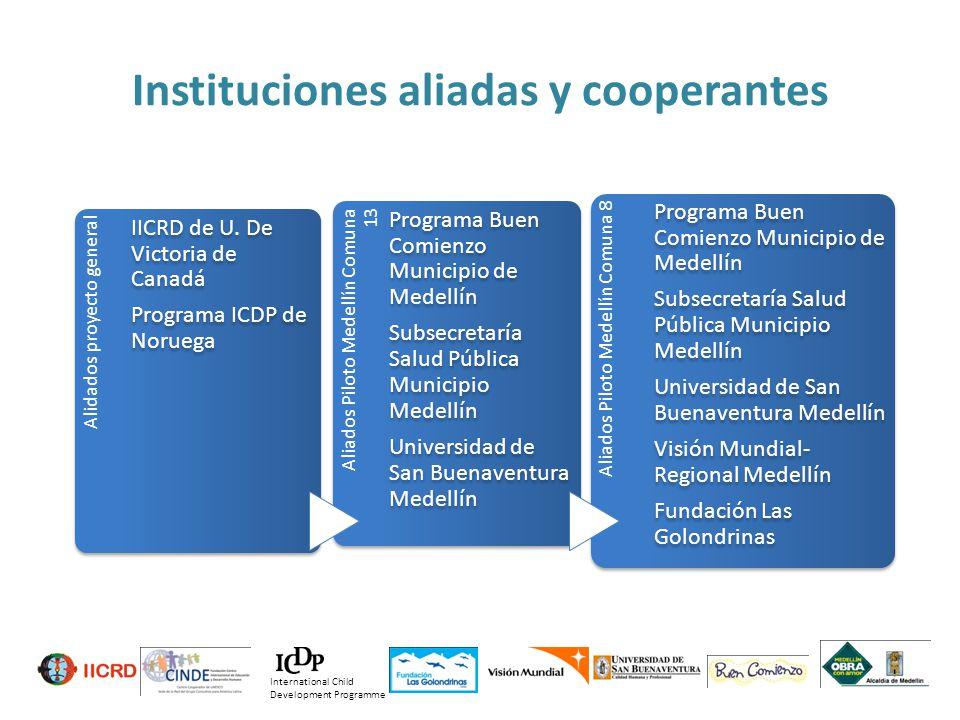 Instituciones aliadas y cooperantes