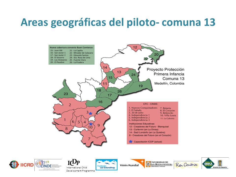 Areas geográficas del piloto- comuna 13
