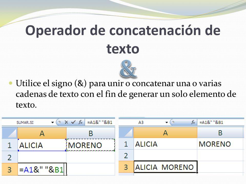 Operador de concatenación de texto