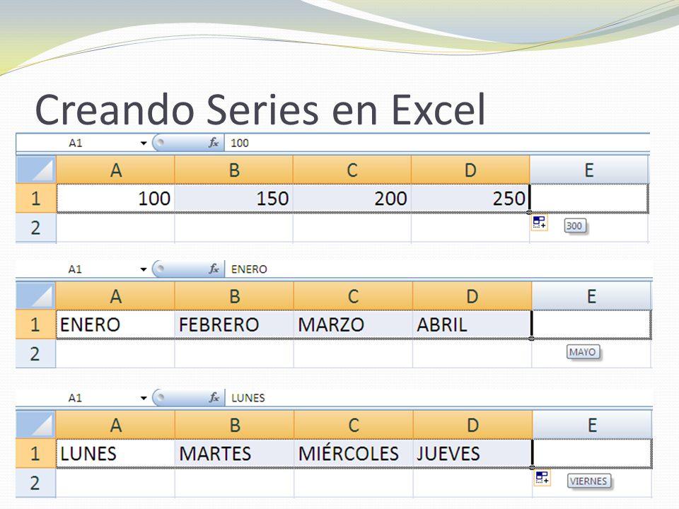 Creando Series en Excel