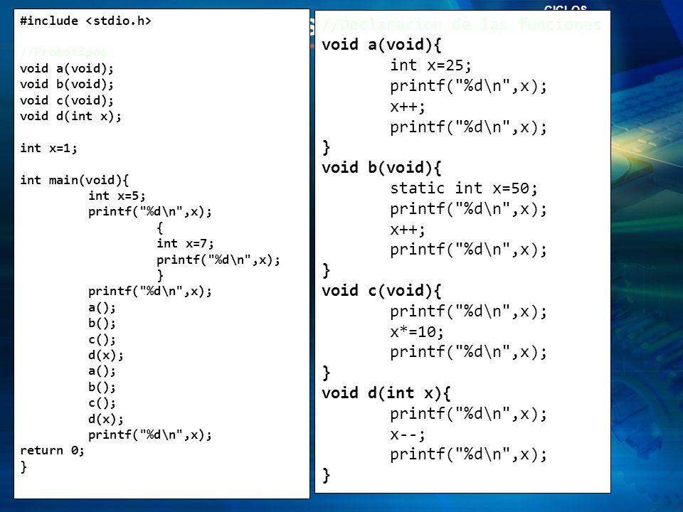 Zona de Preguntas… Funciones en C //Declaracion de las funciones