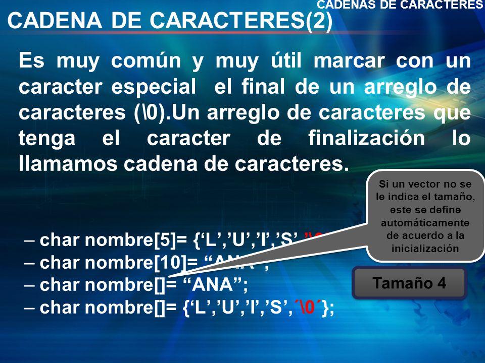 CADENA DE CARACTERES(2)