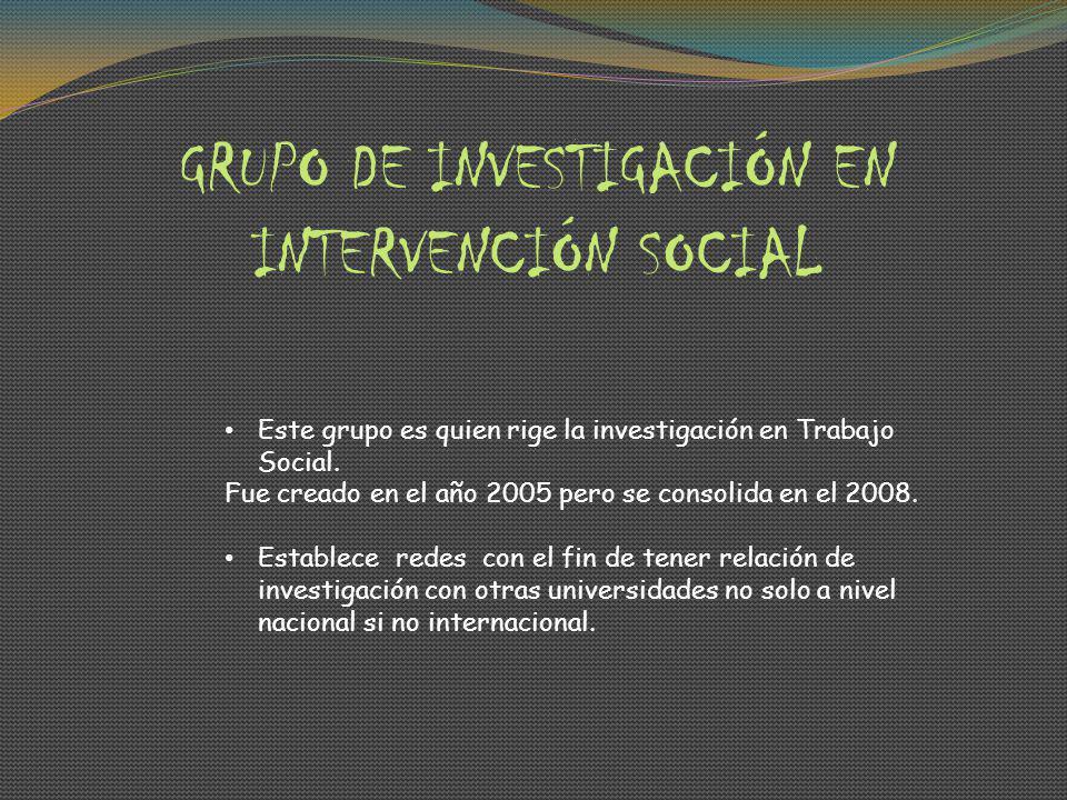 GRUPO DE INVESTIGACIÓN EN INTERVENCIÓN SOCIAL