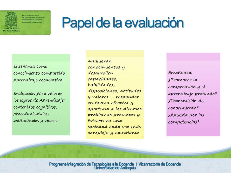 Papel de la evaluación