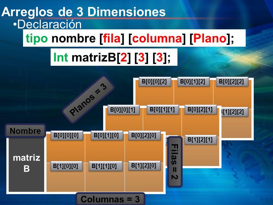 Arreglos de 3 Dimensiones