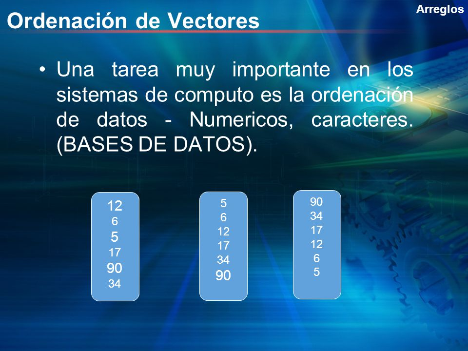 Ordenación de Vectores