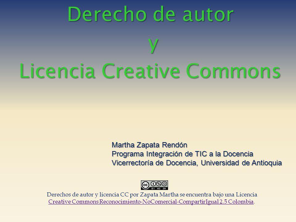 Derecho de autor y Licencia Creative Commons