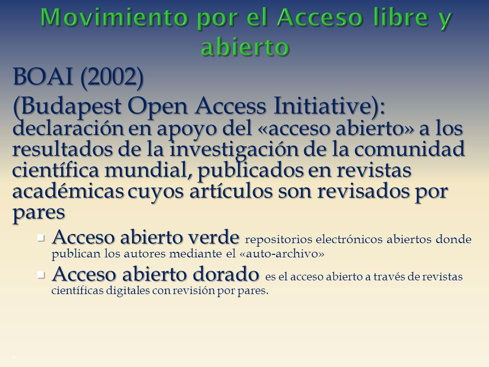 Movimiento por el Acceso libre y abierto