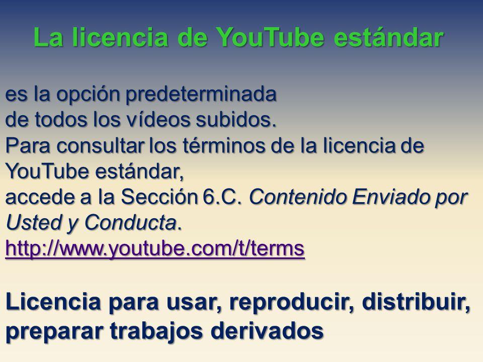 La licencia de YouTube estándar