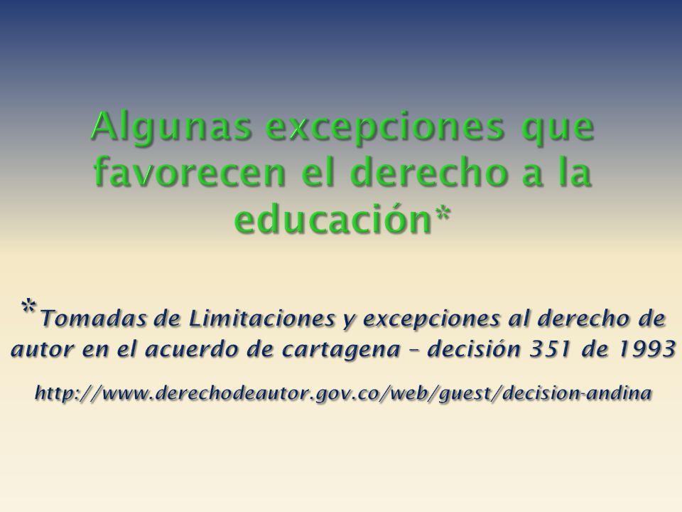 Algunas excepciones que favorecen el derecho a la educación