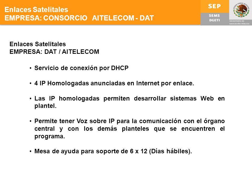 EMPRESA: CONSORCIO AITELECOM - DAT