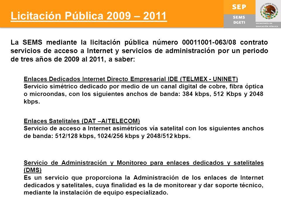Licitación Pública 2009 – 2011