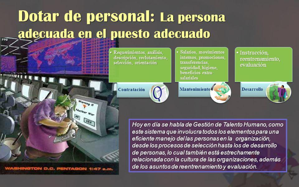 Dotar de personal: La persona adecuada en el puesto adecuado