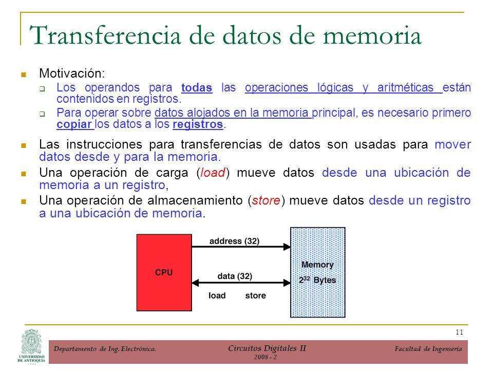 Transferencia de datos de memoria