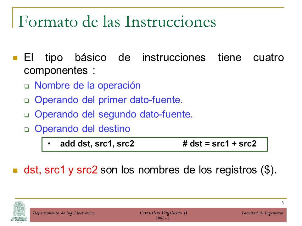 Formato de las Instrucciones
