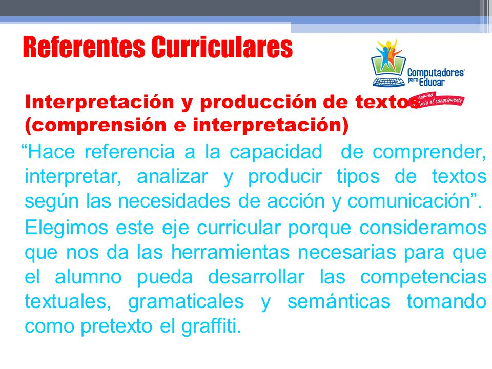 Referentes Curriculares