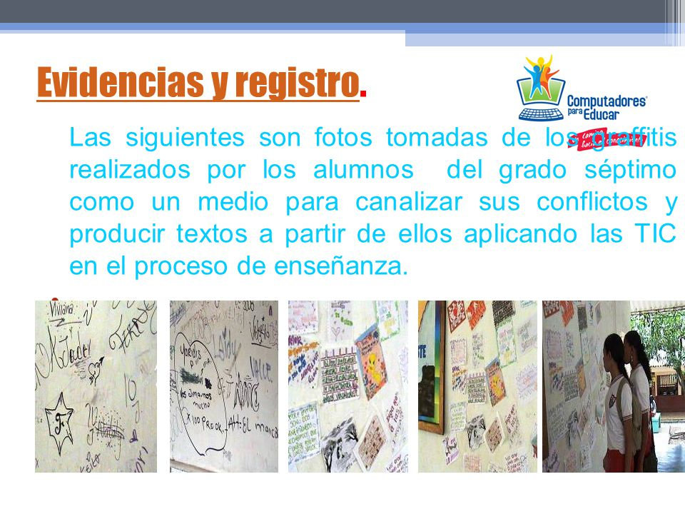 Evidencias y registro.