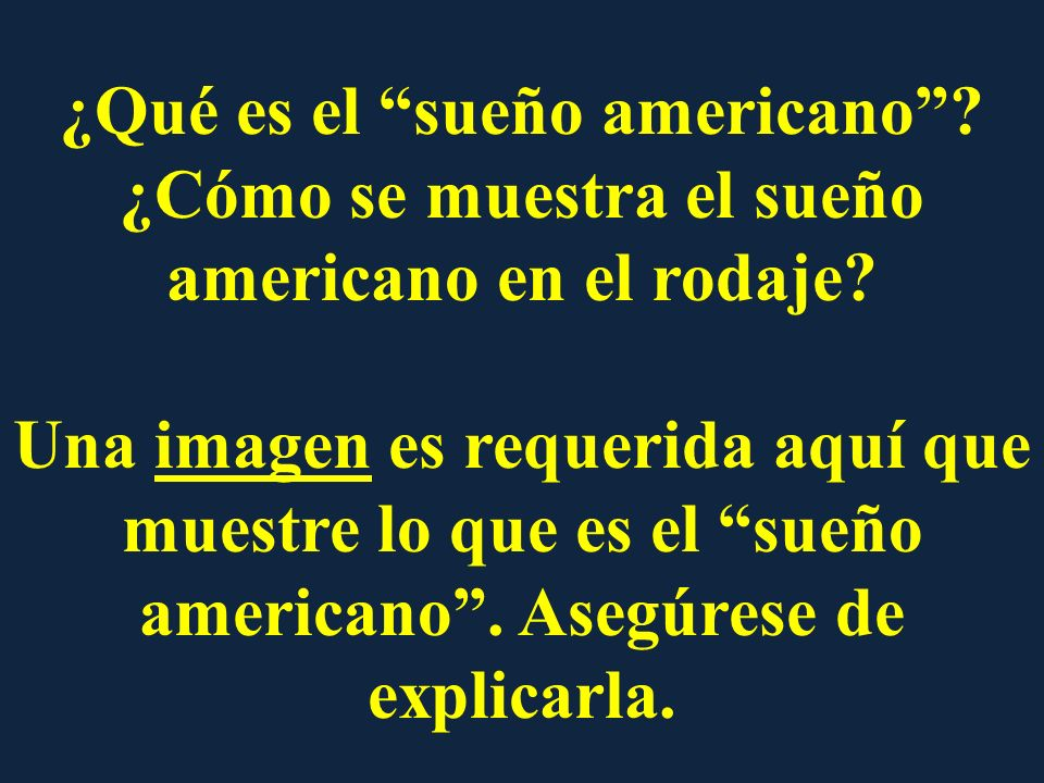 ¿Qué es el sueño americano