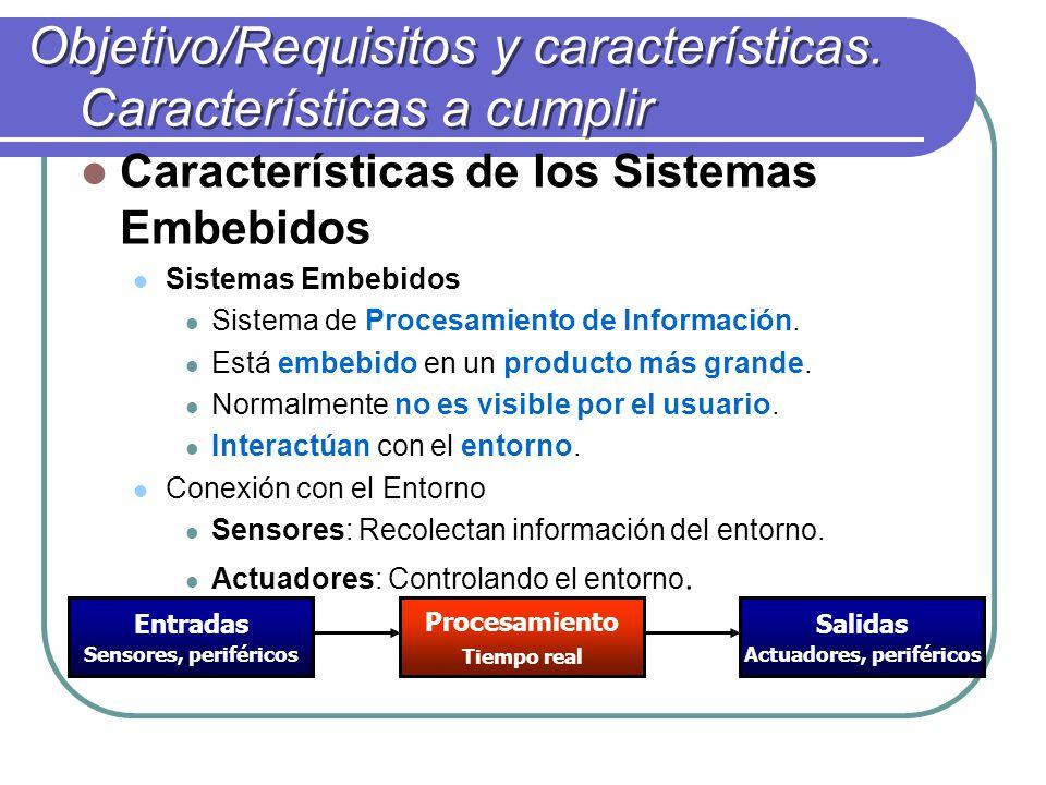 Objetivo/Requisitos y características. Características a cumplir