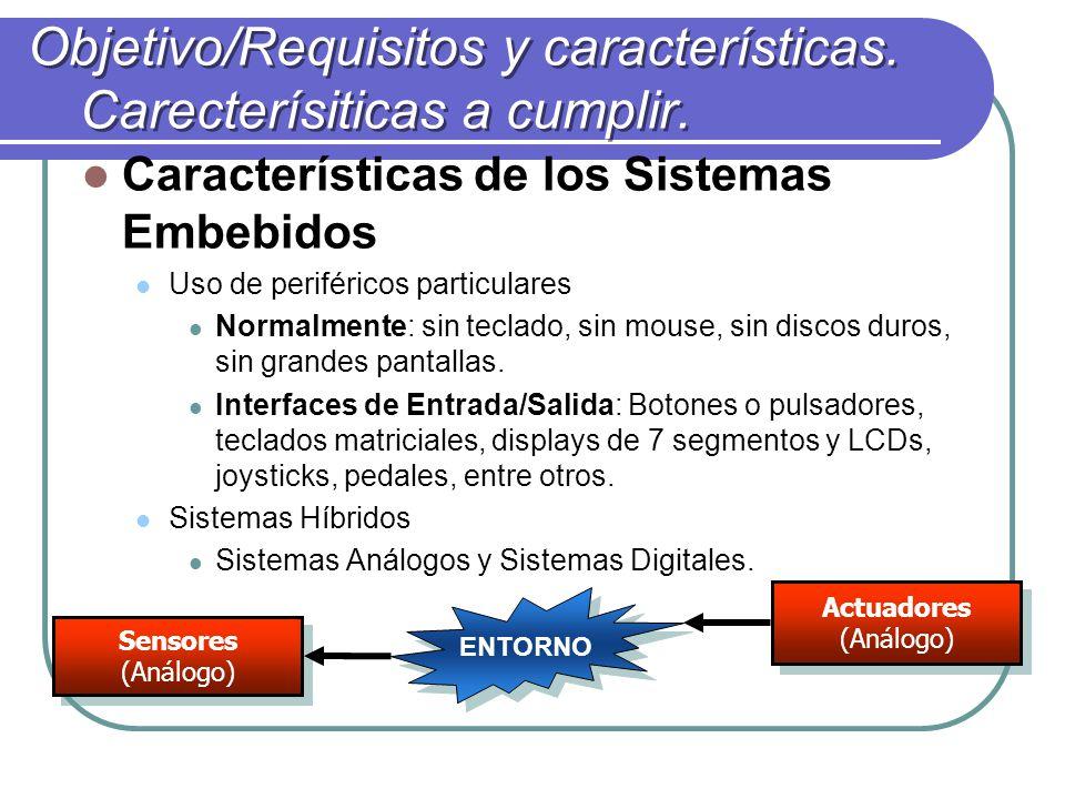Objetivo/Requisitos y características. Carecterísiticas a cumplir.