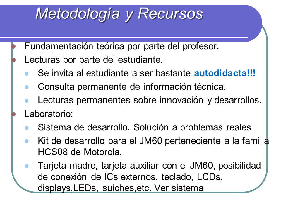 Metodología y Recursos