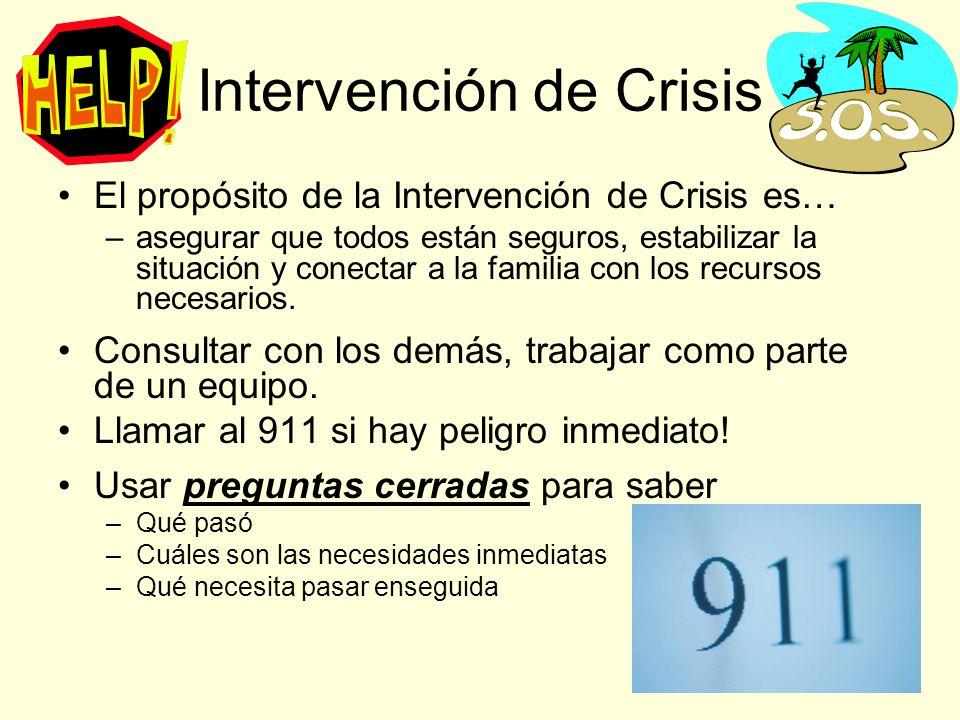 Intervención de Crisis