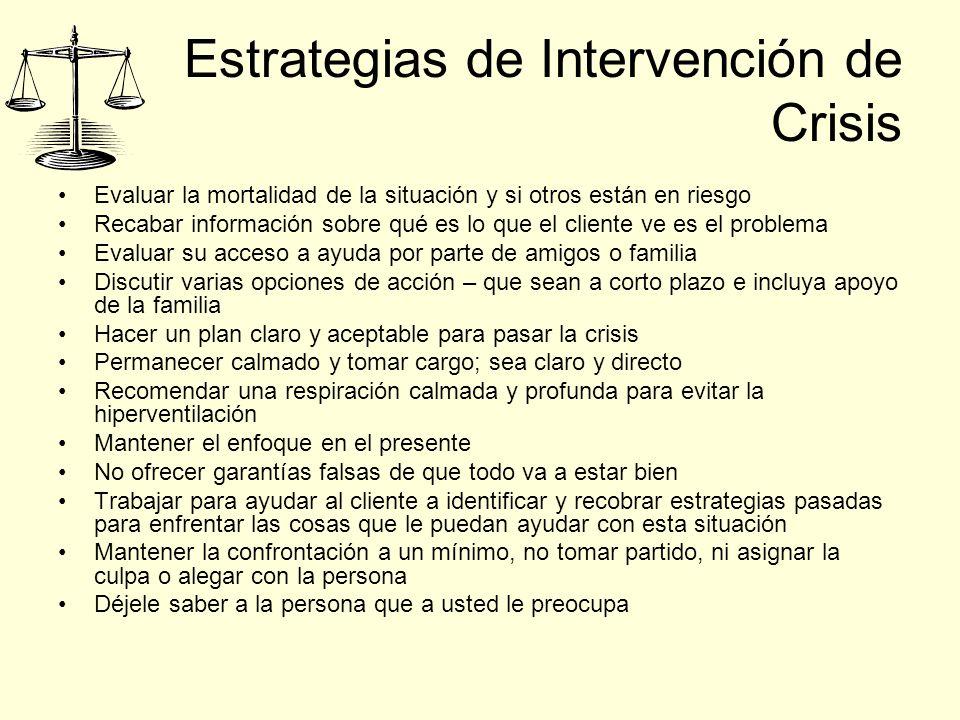 Estrategias de Intervención de Crisis